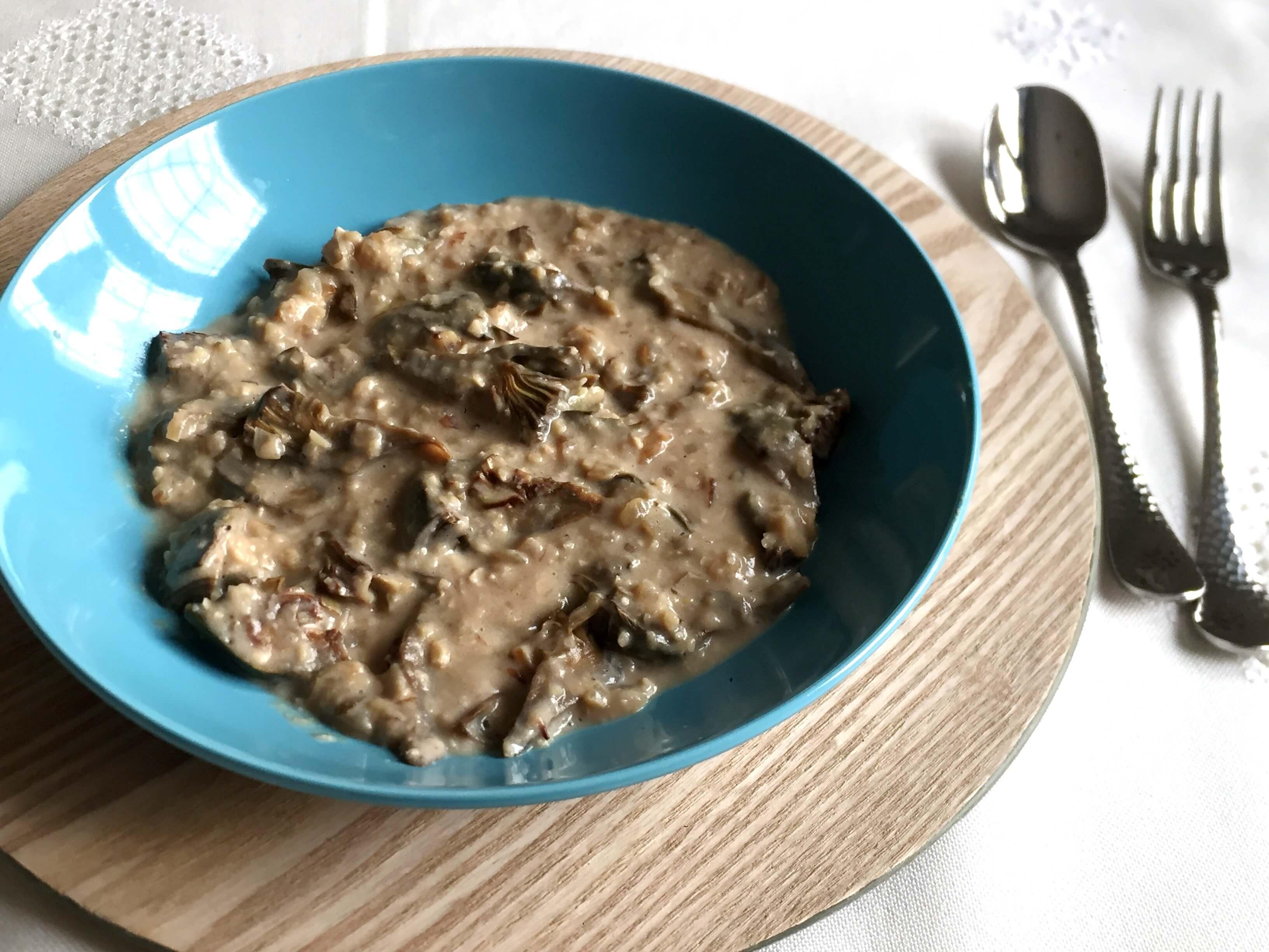 Alcachofas en salsa de almendras