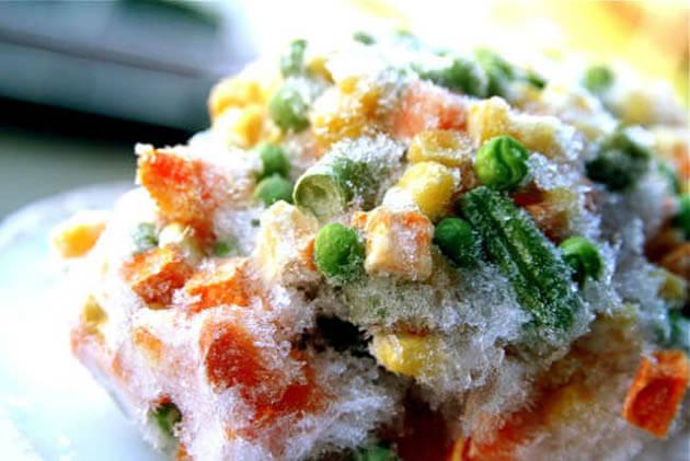 congelación alimentos
