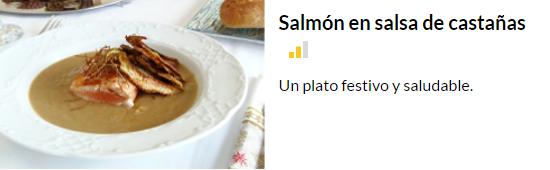 salmon en salsa de castañas