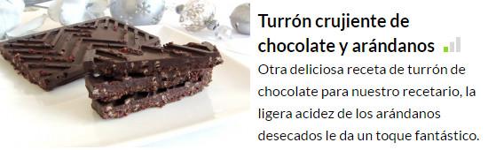 turrron de chocolate y arandanos